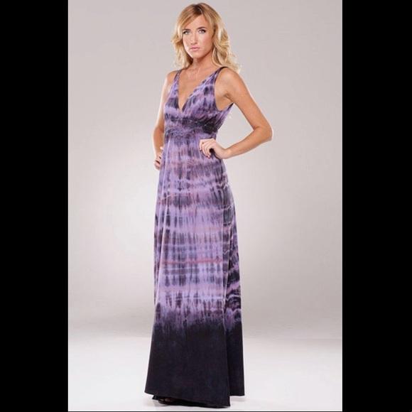 Gypsy 05 Dresses Purple Organic Cotton Tie Dye Maxi Dress Poshmark